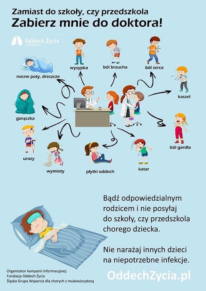 Dlaczego chore dziecko powinno zostać w domu